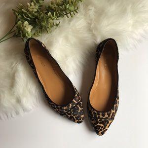 Nine West | leopard cheetah flats size 8